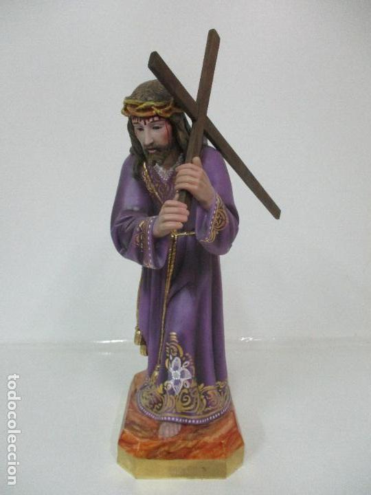 Arte: Precioso Cristo Nazareno - Estuco Policromado - 58 cm Altura - Talleres de Olot - Foto 2 - 109524063