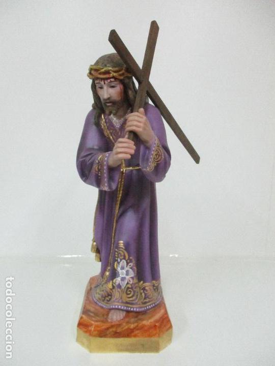 Arte: Precioso Cristo Nazareno - Estuco Policromado - 58 cm Altura - Talleres de Olot - Foto 3 - 109524063