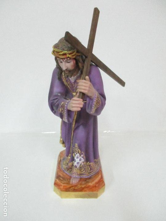 Arte: Precioso Cristo Nazareno - Estuco Policromado - 58 cm Altura - Talleres de Olot - Foto 4 - 109524063
