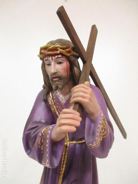 Arte: Precioso Cristo Nazareno - Estuco Policromado - 58 cm Altura - Talleres de Olot - Foto 6 - 109524063