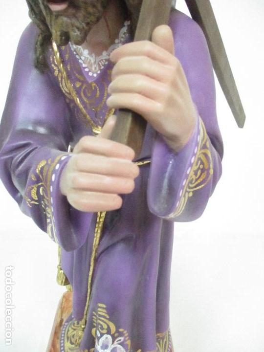 Arte: Precioso Cristo Nazareno - Estuco Policromado - 58 cm Altura - Talleres de Olot - Foto 8 - 109524063