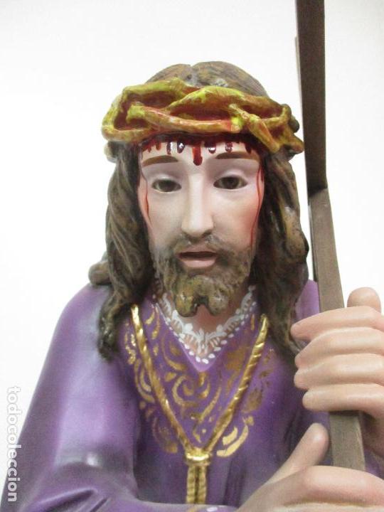 Arte: Precioso Cristo Nazareno - Estuco Policromado - 58 cm Altura - Talleres de Olot - Foto 9 - 109524063