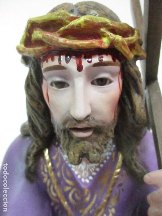 Arte: Precioso Cristo Nazareno - Estuco Policromado - 58 cm Altura - Talleres de Olot - Foto 10 - 109524063