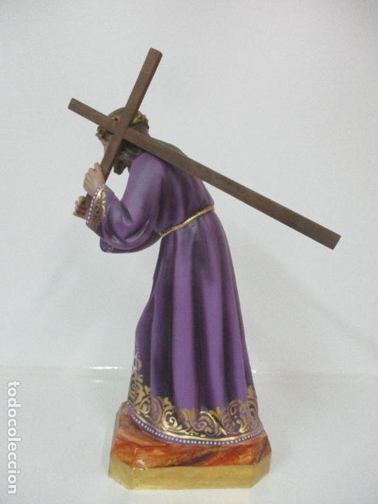 Arte: Precioso Cristo Nazareno - Estuco Policromado - 58 cm Altura - Talleres de Olot - Foto 11 - 109524063