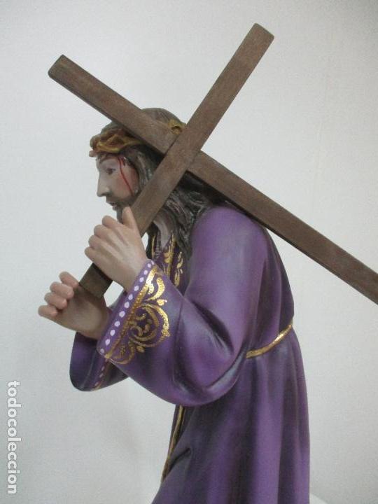 Arte: Precioso Cristo Nazareno - Estuco Policromado - 58 cm Altura - Talleres de Olot - Foto 13 - 109524063