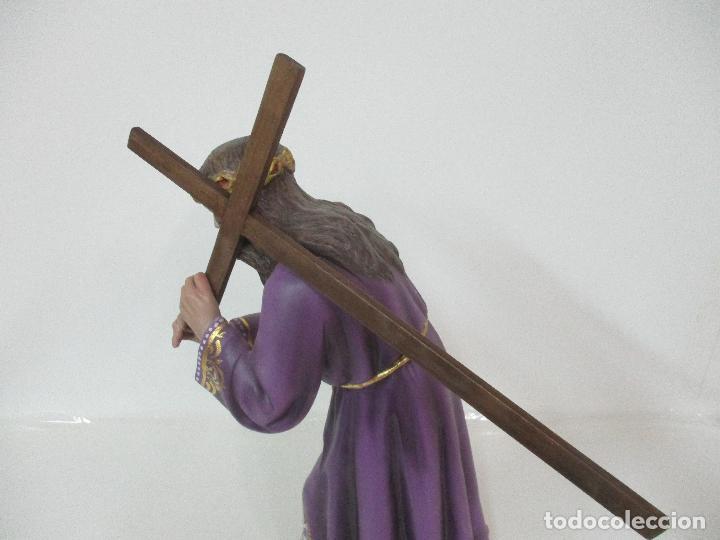 Arte: Precioso Cristo Nazareno - Estuco Policromado - 58 cm Altura - Talleres de Olot - Foto 14 - 109524063