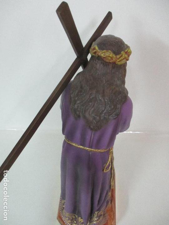Arte: Precioso Cristo Nazareno - Estuco Policromado - 58 cm Altura - Talleres de Olot - Foto 17 - 109524063