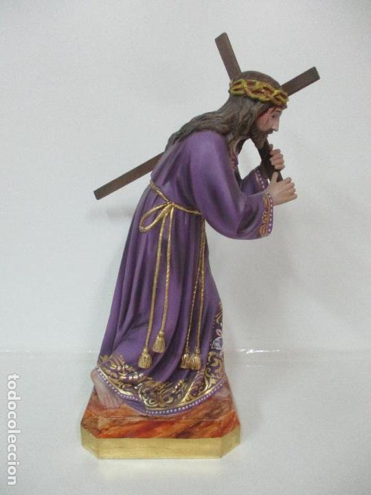 Arte: Precioso Cristo Nazareno - Estuco Policromado - 58 cm Altura - Talleres de Olot - Foto 18 - 109524063