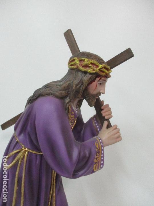 Arte: Precioso Cristo Nazareno - Estuco Policromado - 58 cm Altura - Talleres de Olot - Foto 21 - 109524063