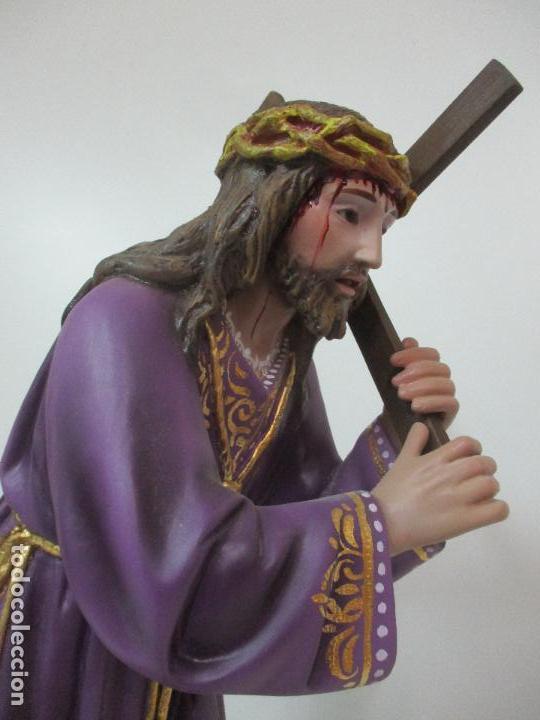 Arte: Precioso Cristo Nazareno - Estuco Policromado - 58 cm Altura - Talleres de Olot - Foto 22 - 109524063