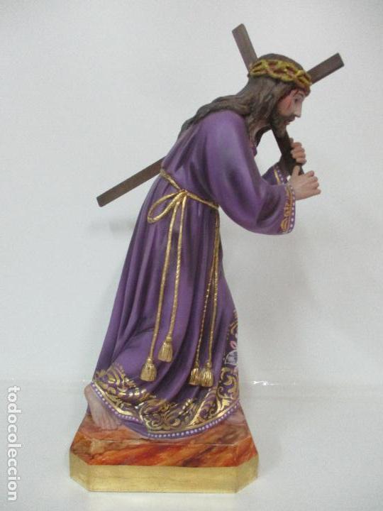Arte: Precioso Cristo Nazareno - Estuco Policromado - 58 cm Altura - Talleres de Olot - Foto 23 - 109524063