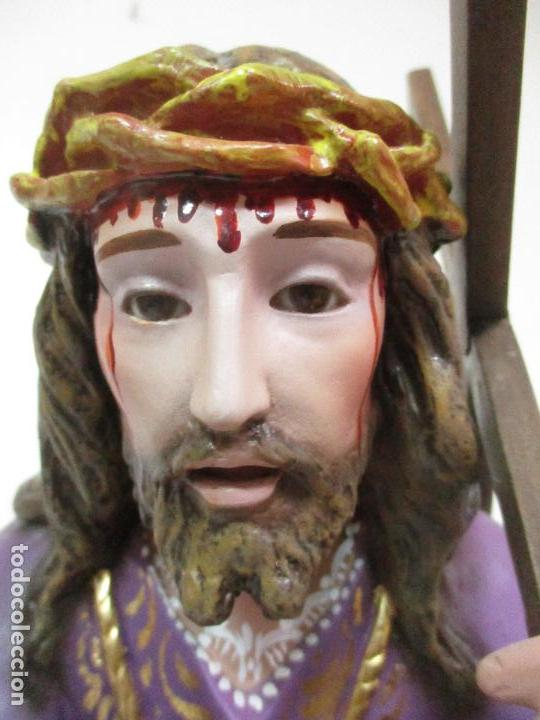 Arte: Precioso Cristo Nazareno - Estuco Policromado - 58 cm Altura - Talleres de Olot - Foto 24 - 109524063