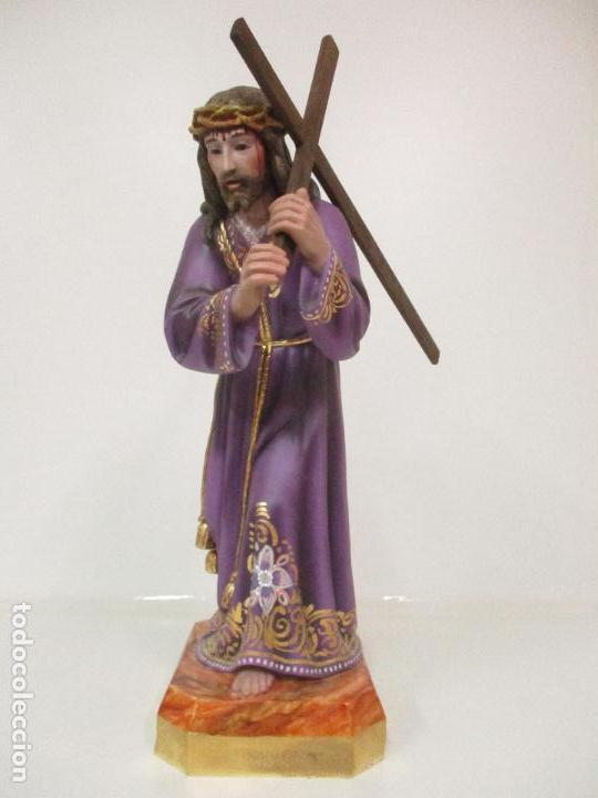 Arte: Precioso Cristo Nazareno - Estuco Policromado - 58 cm Altura - Talleres de Olot - Foto 25 - 109524063