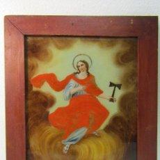 Arte: OLEO SOBRE VIDRIO CUADRO SIGLO XVIII SANTA TECLA. Lote 109529571