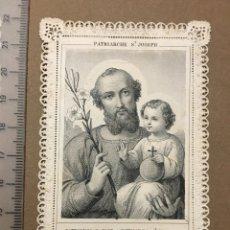 Arte: ESTAMPA RELIGIOSA. FINALES S. XIX. PATRIARCA SAN JOSÉ.. Lote 109618143