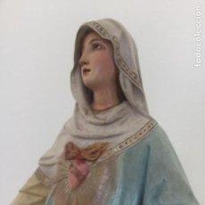 Arte: VIRGEN CORAZON INMACULADO DE MARÍA OLOT.TALLER EL RENACIMIENTO OLOT. PASTA MADERA,IMAGEN, PROCESION.. Lote 184100518