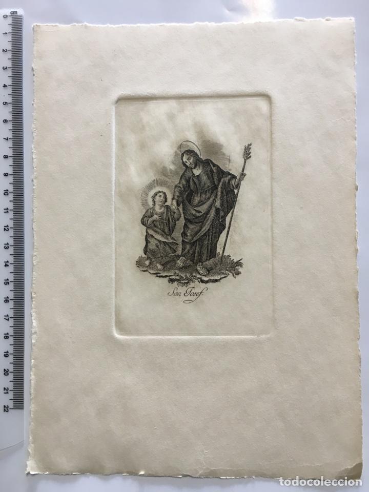 GRABADO FINALES S. XIX. SAN JOSEF (Arte - Arte Religioso - Grabados)