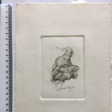 Arte: GRABADO FINALES S. XIX. S. GREGORIO MAGNO. CAPILLA LO G.. Lote 109821779