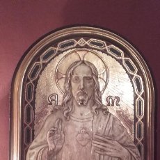 Arte: EXCELENTE RETABLO DEL CORAZÓN DE JESÚS. Lote 142569180