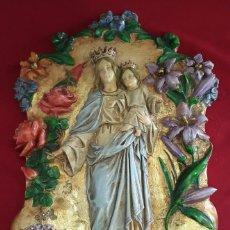 Arte: RETABLO RELIGIOSO AÑOS 40. MARIA AUXILIADORA. FIRMADO RICART. Lote 111407178