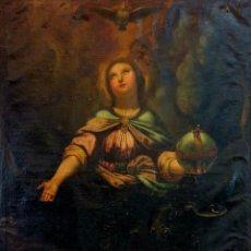 Arte: NIÑO JESÚS CON SÍMBOLOS DE LA PASIÓN. ÓLEO SOBRE LIENZO. ANÓNIMO. ESPAÑA. XVIII-XIX. Lote 110311483