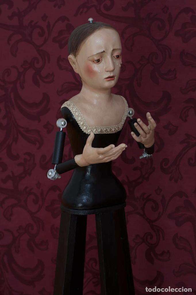 Arte: Virgen Dolorosa de 75 ctm de candelero - Foto 2 - 110333803