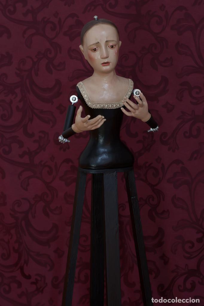 Arte: Virgen Dolorosa de 75 ctm de candelero - Foto 4 - 110333803