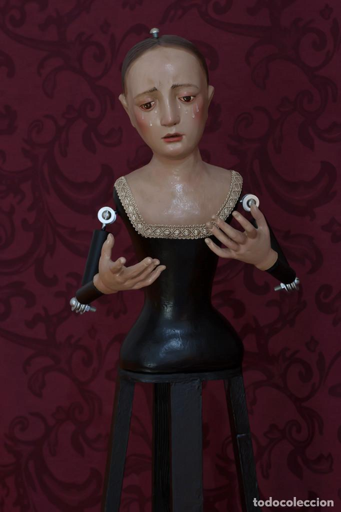 Arte: Virgen Dolorosa de 75 ctm de candelero - Foto 8 - 110333803