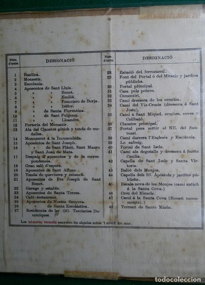 Arte: Antiguo grabado plano topografico del monasterio de montserrat y sus alrededores año 1909 - Foto 4 - 110401955