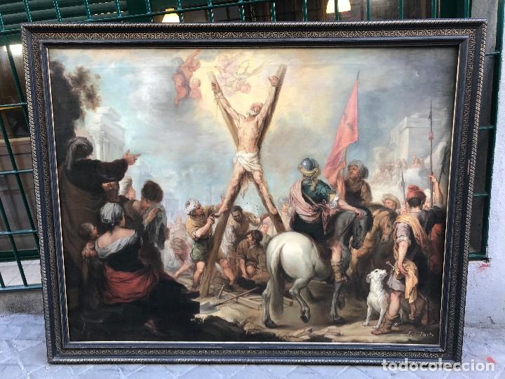 EXCEPCIONAL MARTIRIO DE SAN ANDRES, MURILLO (Arte - Arte Religioso - Pintura Religiosa - Oleo)