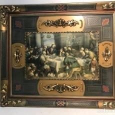 Arte: CUADRO DECORATIVO DE LA ULTIMA CENA DE JESUS.. Lote 110613115