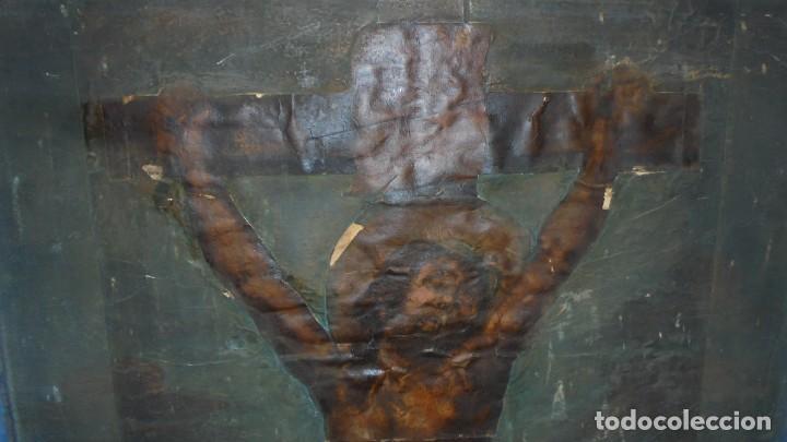 Arte: ANTIGUA PINTURA / GRABADO , CRISTO , CON PAISAJE , S.XVIII - ( EL CRISTO ES UN GRABADO COLOREADO - Foto 4 - 110648775