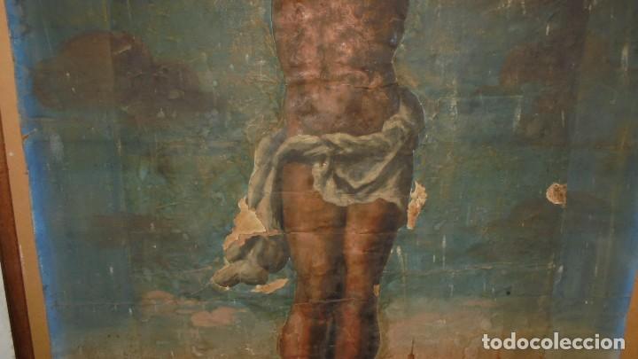Arte: ANTIGUA PINTURA / GRABADO , CRISTO , CON PAISAJE , S.XVIII - ( EL CRISTO ES UN GRABADO COLOREADO - Foto 5 - 110648775