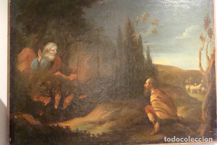 ÓLEO SOBRE LIENZO - ESCENA BÍBLICA - SIGLO XVII (Arte - Arte Religioso - Pintura Religiosa - Oleo)