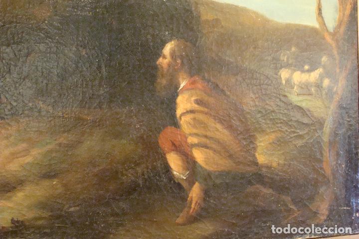Arte: Óleo sobre lienzo - Escena Bíblica - Siglo XVII - Foto 2 - 110659087