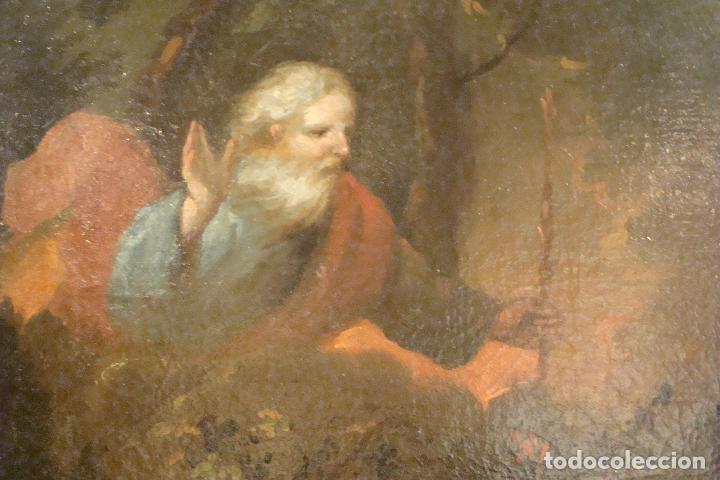 Arte: Óleo sobre lienzo - Escena Bíblica - Siglo XVII - Foto 3 - 110659087