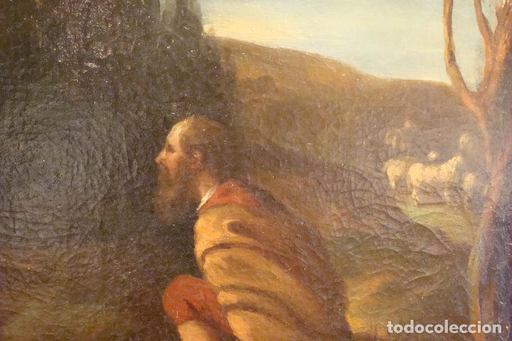Arte: Óleo sobre lienzo - Escena Bíblica - Siglo XVII - Foto 4 - 110659087