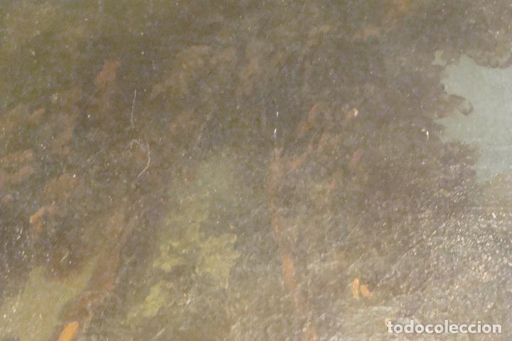 Arte: Óleo sobre lienzo - Escena Bíblica - Siglo XVII - Foto 5 - 110659087