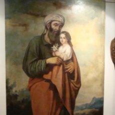 Arte: ÓLEO SOBRE LIENZO SAN JOSÉ - FIRMADO - SIGLO XIX. Lote 110676143