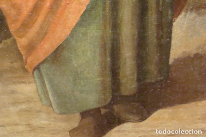 Arte: Óleo sobre lienzo San José - Firmado - Siglo XIX - Foto 4 - 110676143