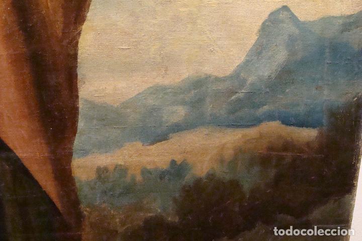 Arte: Óleo sobre lienzo San José - Firmado - Siglo XIX - Foto 7 - 110676143