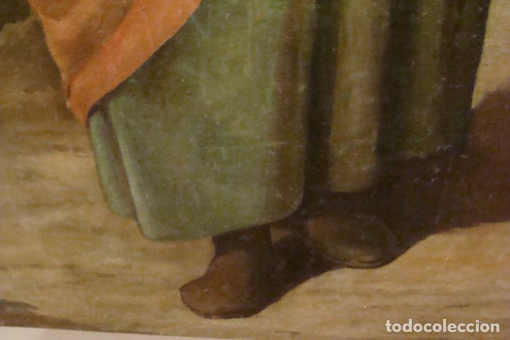 Arte: Óleo sobre lienzo San José - Firmado - Siglo XIX - Foto 8 - 110676143