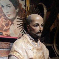 Arte: IMAGEN SAN IGNACIO DE LOYOLA ESTATUA FIGURA RELIGIOSA RELIGIÓN ARTE SANTO. Lote 110711372