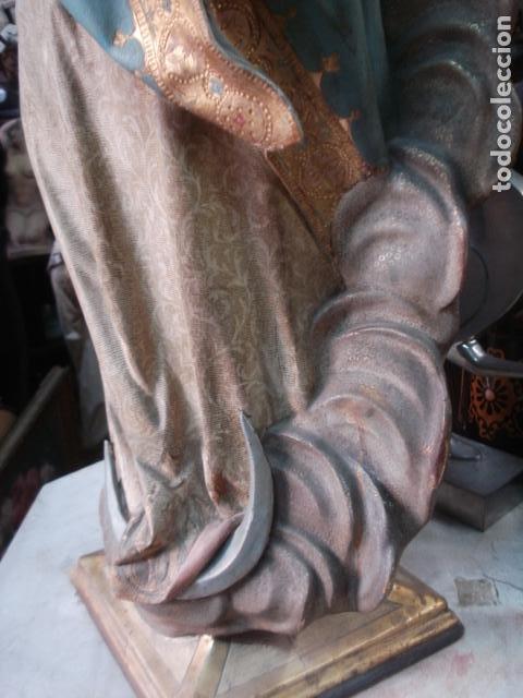 Arte: Talla de madera Inmaculada Concepción corona de plata sXIX - Foto 4 - 110764443