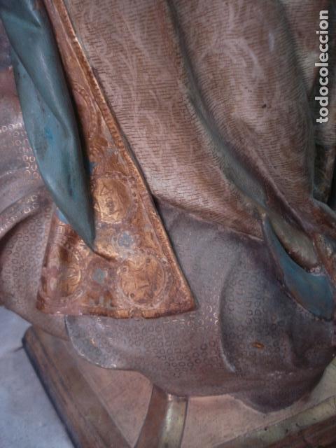 Arte: Talla de madera Inmaculada Concepción corona de plata sXIX - Foto 7 - 110764443