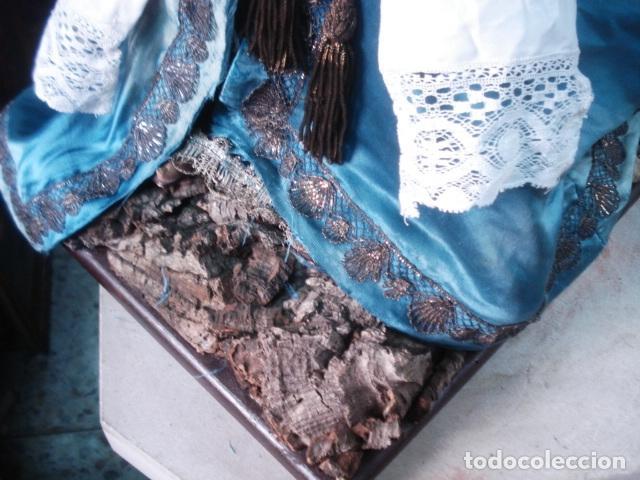 Arte: Magnífica Virgen Dolorosa en el Calvario sXIX talla de madera - Foto 2 - 110764919