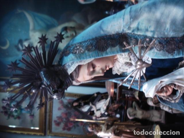 Arte: Magnífica Virgen Dolorosa en el Calvario sXIX talla de madera - Foto 3 - 110764919