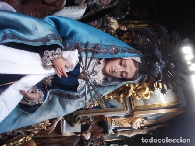 Arte: Magnífica Virgen Dolorosa en el Calvario sXIX talla de madera - Foto 10 - 110764919