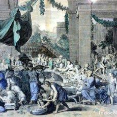 Arte: PAREJA DE GRABADOS RELIGIOSOS. GRABADO SOBRE PAPEL. COLOREADO ACUARELA. FRANCIA(?) XVIII-XIX. Lote 110880623