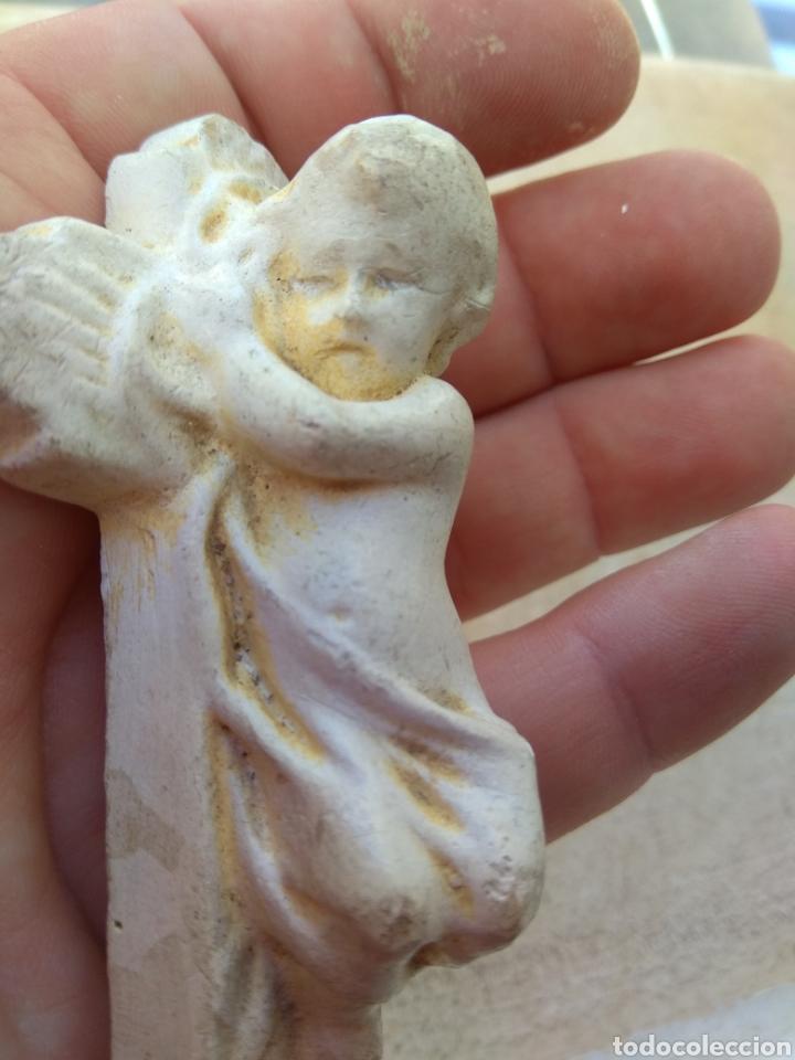 Arte: Antiguo Niño Jesús en la Cruz - Foto 2 - 29472449